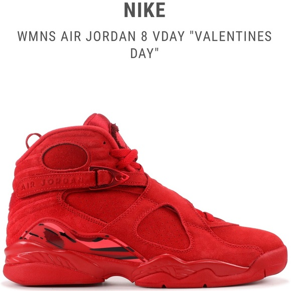 "lowest price 68d7f 78107 Exclusive NEW Women's NIKE Air Jordan 8 ""Vday"" NWT"